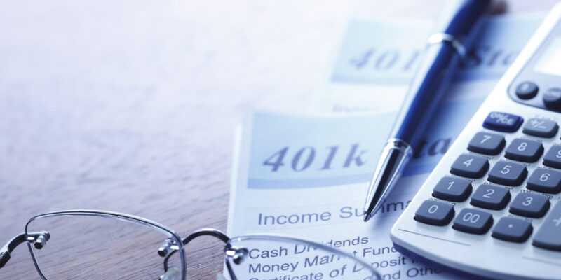 Close up of a 401(k) statement.To see more of my financial images click on the link below: